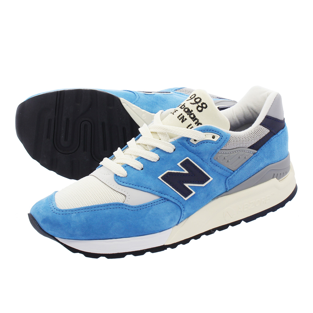 NEW BALANCE M998JCW 【J.CREW】【MADE IN U.S.A.】 【Dワイズ】 ニューバランス M 998 JCWBLUE/NAVY/WHITE