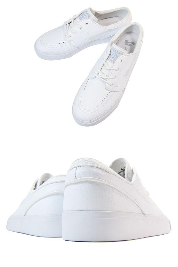 3a3f8b309c348 LOWTEX PLUS  NIKE ZOOM STEFAN JANOSKI LEATHER WHITE WHITE