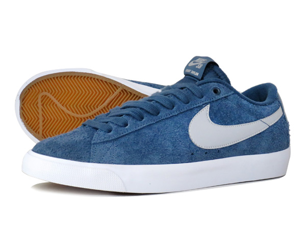 Nike SB Blazer Squadron Blue Sneakers (Squadron Blue/Metallic Silver-Crimson)