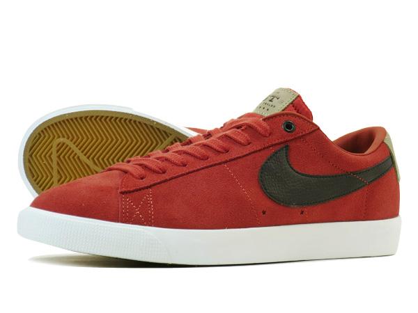 Nike SB Blazer Cinnabar Sneakers (Cinnabar/Black-Bamboo)