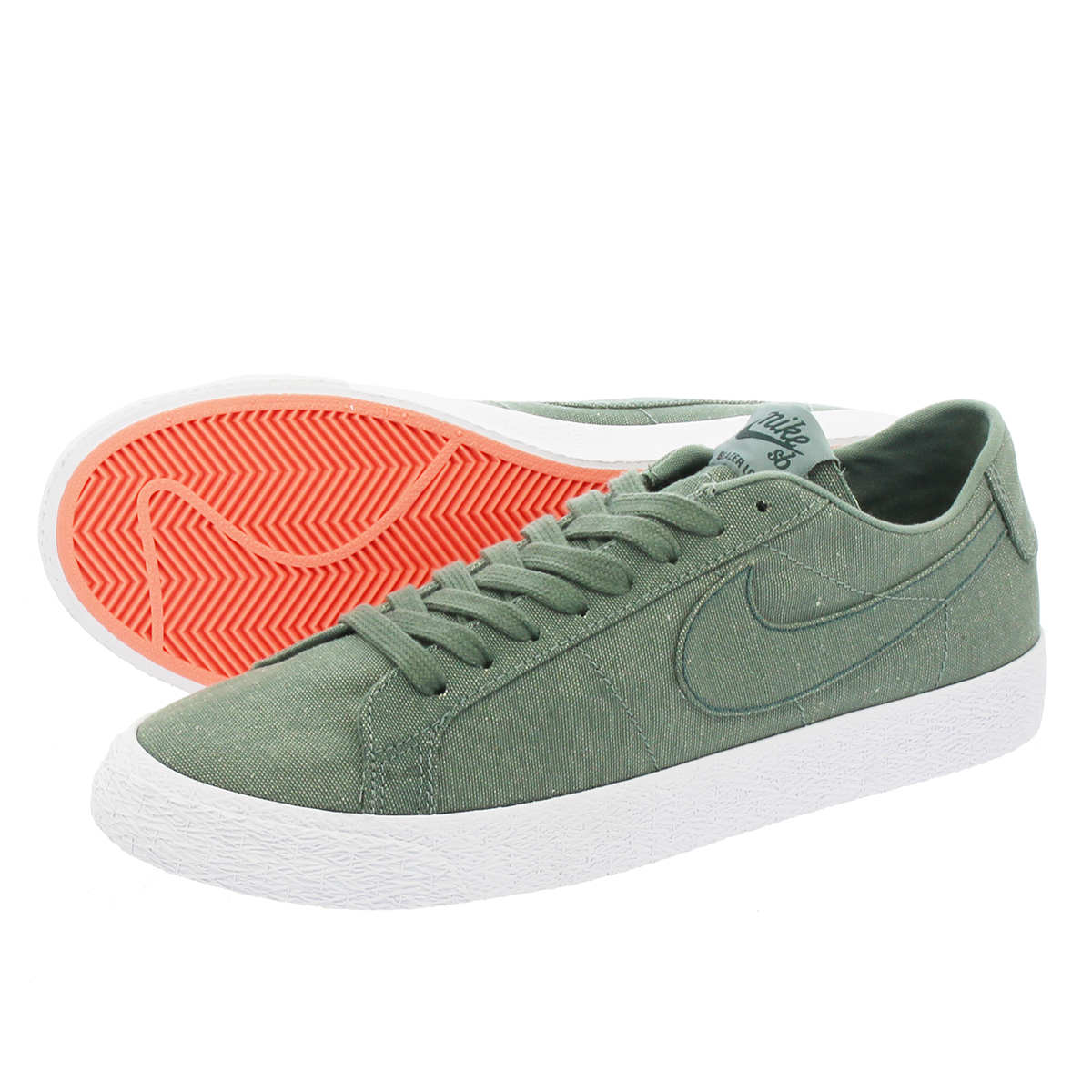 the latest 3104e 07642 NIKE SB BLAZER ZOOM LOW CANVAS DECONSTRUCTED Nike SB zoom blazer low canvas  deacon strike comfortable Ted KHAKI/WHITE ah3370-300