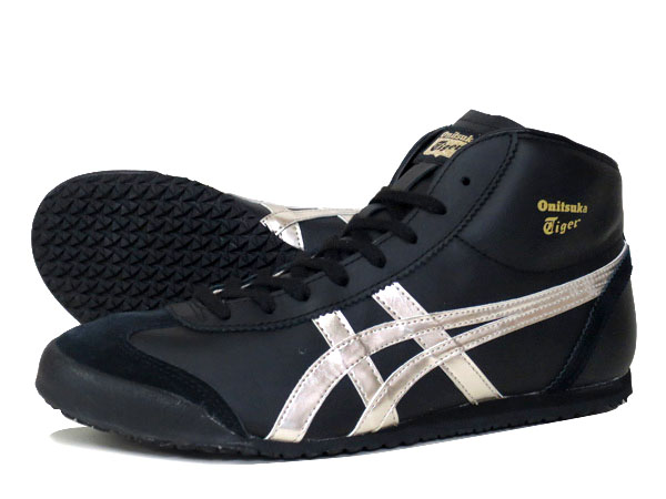 Onitsuka Tiger MEXICO MID RUNNER BLACK/GOLD