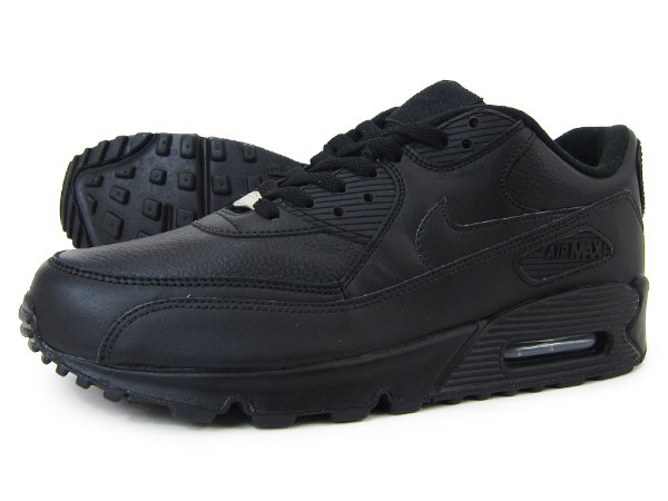 online retailer 6cf8f 69e64 NIKE AIR MAX 90 LEATHER BLACK BLACK