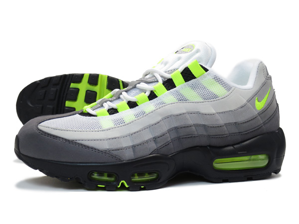 4145bcf770dc LOWTEX PLUS  NIKE AIR MAX 95 OG BLACK VOLT MEDIUM ASH DARK PEWTER ...