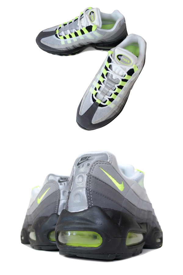 newest 153b5 f3722 NIKE AIR MAX 95 OG BLACK VOLT MEDIUM ASH DARK PEWTER