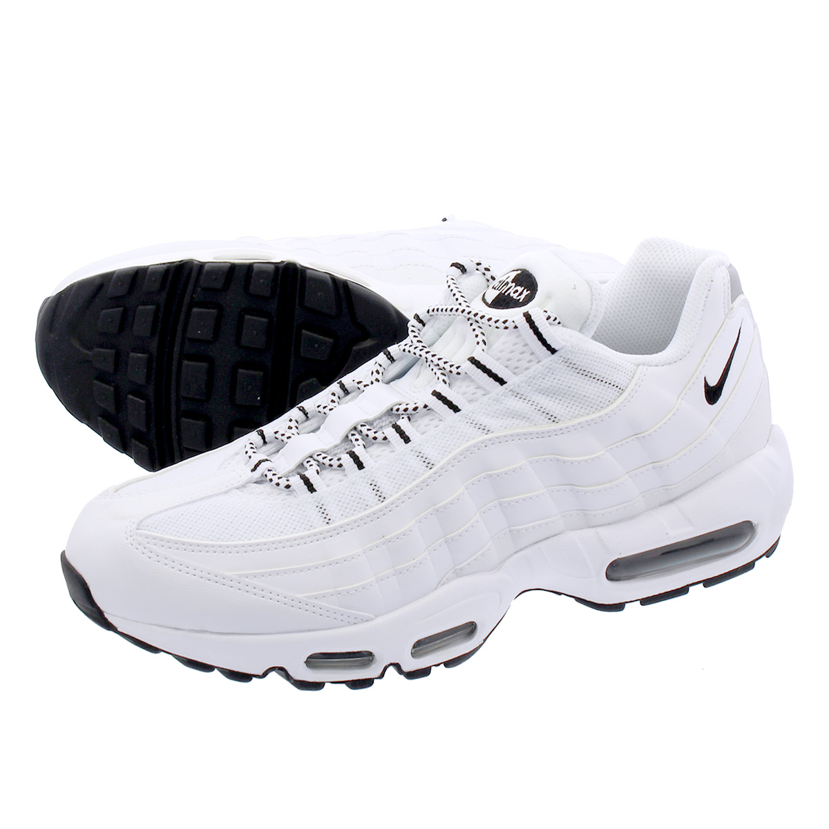 on sale b5373 f75db NIKE AIR MAX 95 WHITE BLACK