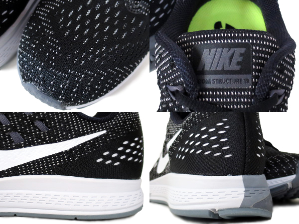 Nike Zoom Structure Aire 19 En Blanco Y Negro Mercado De La Casa lrPw8