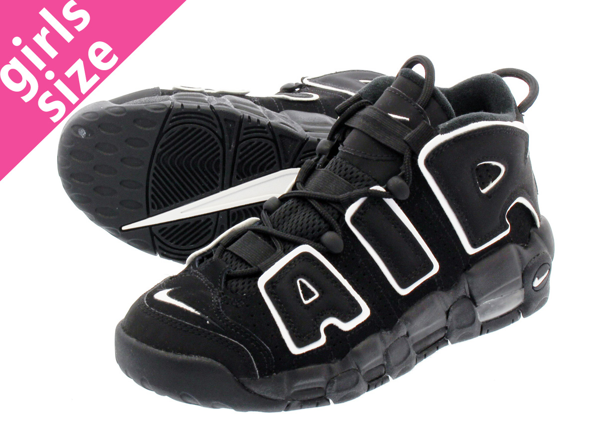 best loved fa0b6 defa8 NIKE AIR MORE UPTEMPO GS Nike more up tempo GS BLACK WHITE 415,082-002