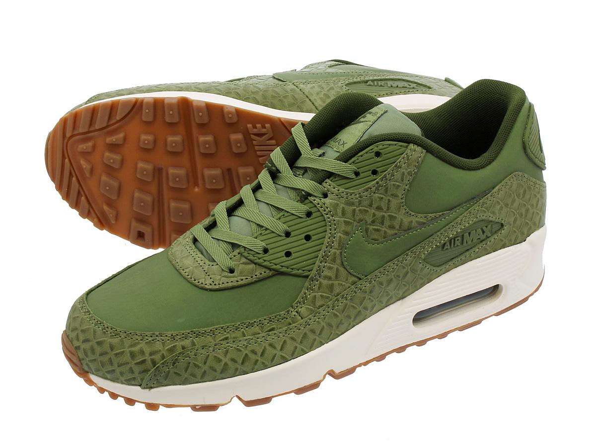 NIKE WMNS AIR MAX 90 PREMIUM Nike women Air Max 90 premium PLAM GREEN SAILLEGION GREEN 443,817 301