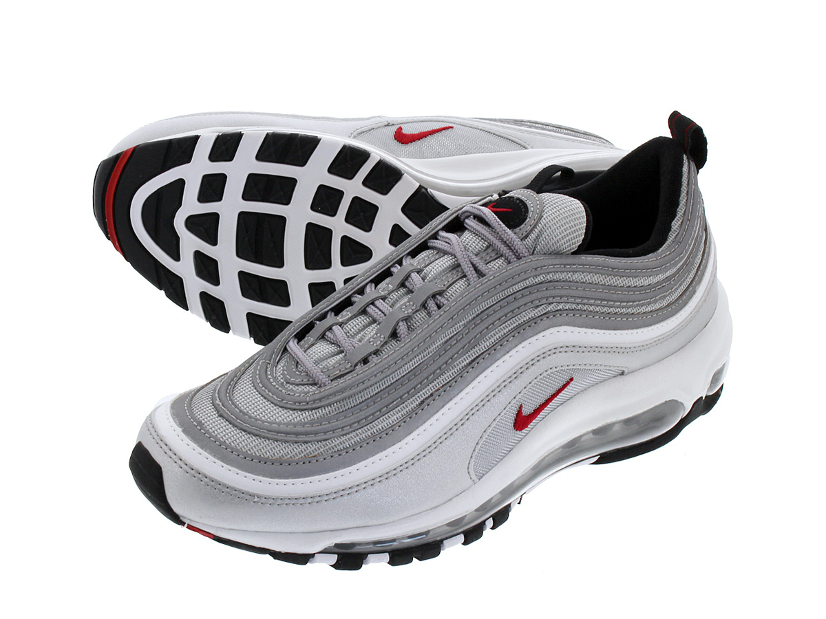 e216ad30a07b NIKE WMNS AIR MAX 97 OG QS Nike women Air Max 97 OG QS METALLIC  SILVER VARSITY RED