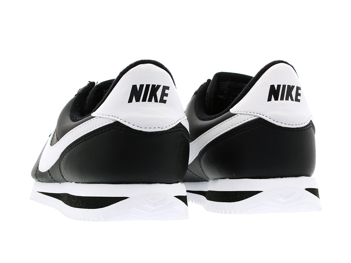 NIKE CORTEZ BASIC LEATHER Nike Cortez basic leather BLACK/WHITE