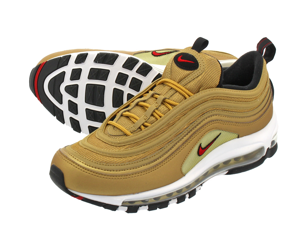 NIKE AIR MAX 97 OG QS Kie Ney AMAX 97 OG QS METALLIC GOLDVARSITY RED