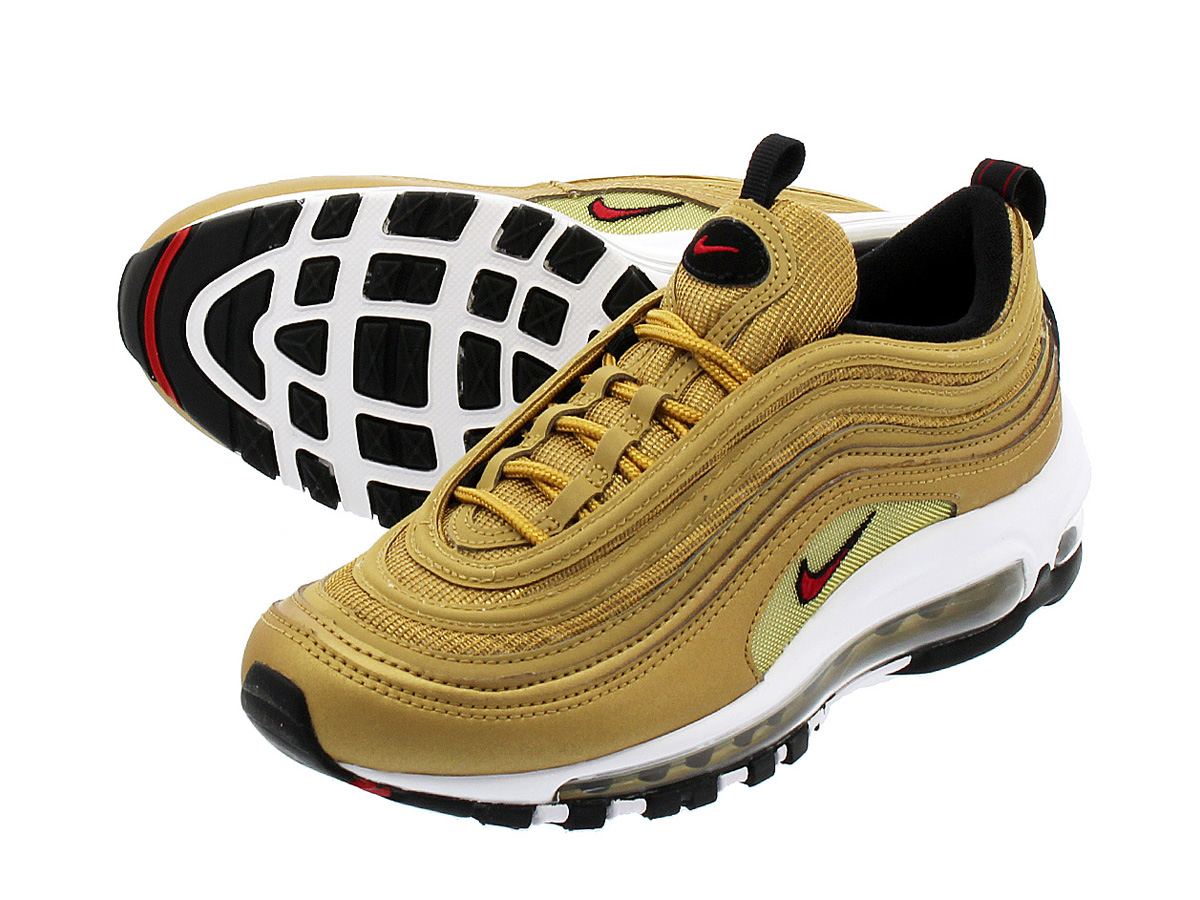huge discount 963d7 657a5 NIKE WMNS AIR MAX 97 OG QS Nike women Air Max 97 OG QS METALLIC GOLD VARSITY  RED WHITE BLACK 885,691-700