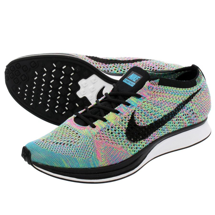 33cf0b826af1 ... coupon code for nike flyknit racer nike fried food knit racer green  strike black blue lagoon