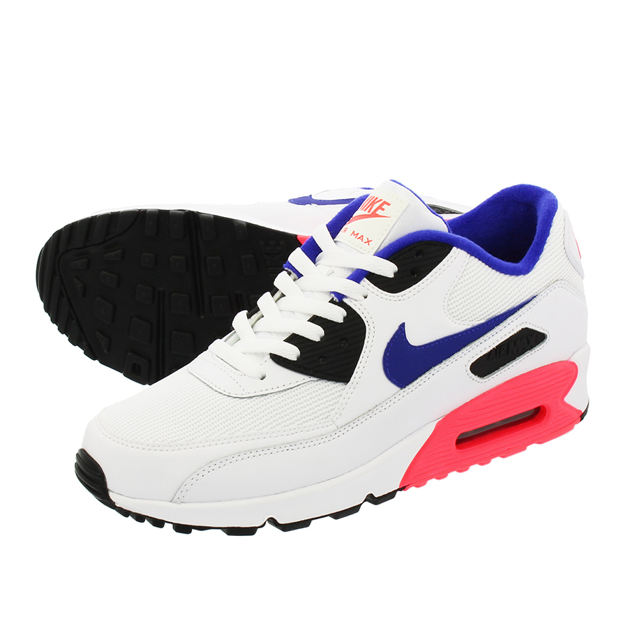 NIKE AIR MAX 90 ESSENTIAL Kie Ney AMAX 90 essential WHITEULTRAMARINESOLAR REDBLACK