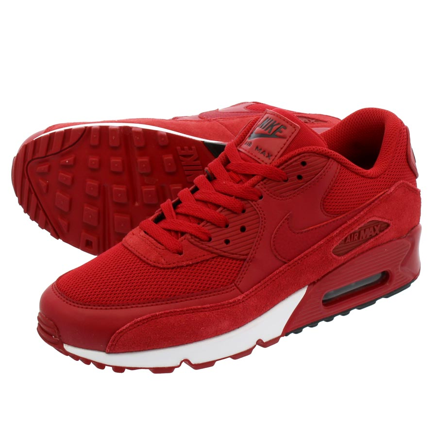 new concept bc056 d9e31 NIKE AIR MAX 90 ESSENTIAL Kie Ney AMAX 90 essential GYM RED GYM RED BLACK  WHITE