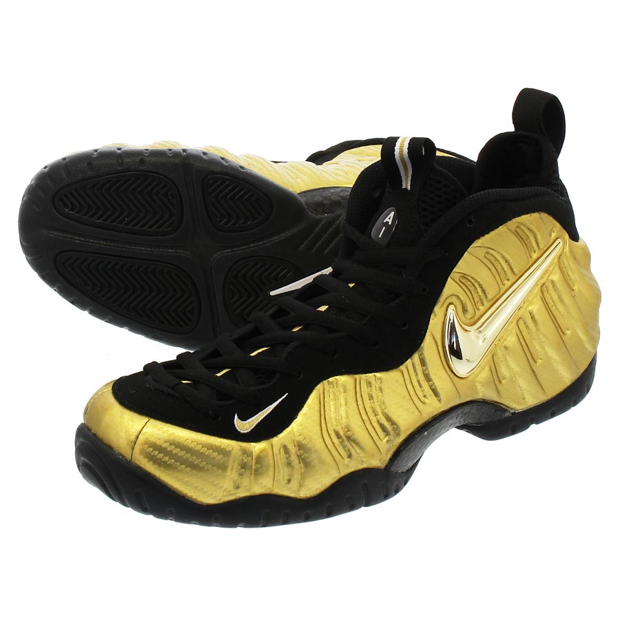 be1eabc7a41 NIKE AIR FOAMPOSITE PRO ナイキエアフォームポジットプロ METALLIC GOLD BLACK
