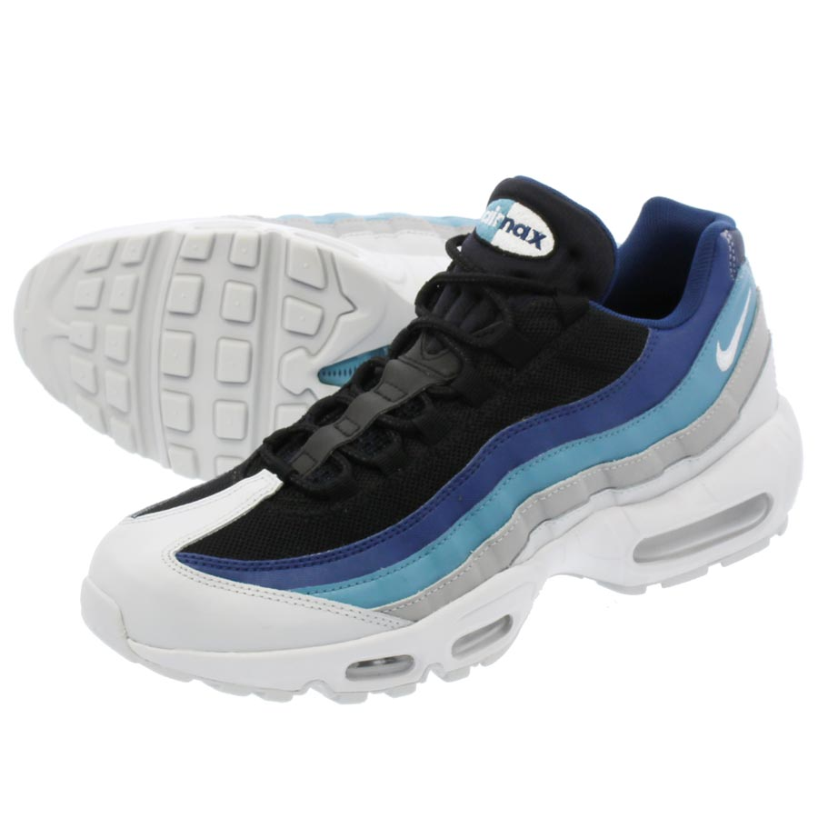 a870a8f0d79 LOWTEX PLUS  NIKE AIR MAX 95 ESSENTIAL Kie Ney AMAX 95 essential PURE PURE  PLATINUM BLUE BLACK