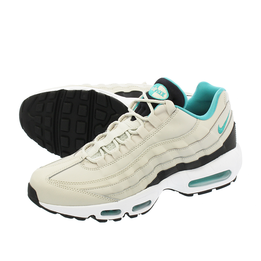 hot sale online 34af8 d628b NIKE AIR MAX 95 ESSENTIAL Kie Ney AMAX 95 essential LIGHT BONE SPORT  TURQUOISE BLACK WHITE