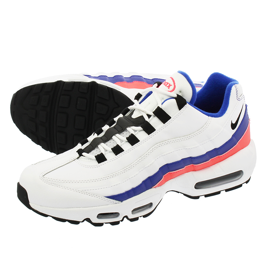 new concept 4d87e 46e56 NIKE AIR MAX 95 ESSENTIAL Kie Ney AMAX 95 essential WHITE BLACK SOLAR RED  ...
