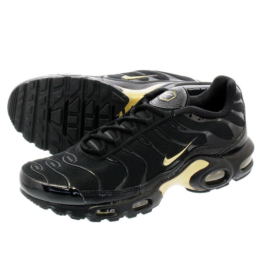 LOWTEX PLUS  NIKE AIR MAX PLUS Kie Ney AMAX plus BLACK METALLIC GOLD ... 3f2381c2e