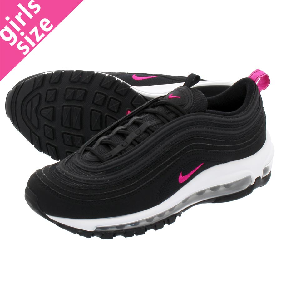 huge selection of a79b1 4c86d LOWTEX PLUS  NIKE AIR MAX 97 GS Kie Ney AMAX 97 GS BLACK PINK PRIME WHITE  921,523-001   Rakuten Global Market