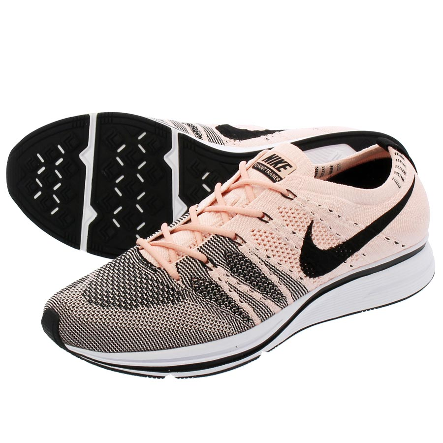 b0189eefd494 NIKE FLYKNIT TRAINER Nike fried food knit trainer SUNSET TINT WHITE BLACK  ah8396-600