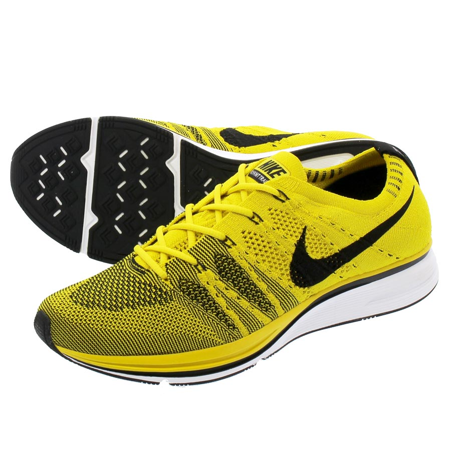 db7b6dd7b093 NIKE FLYKNIT TRAINER Nike fried food knit trainer BRIGHT CITRON WHITE BLACK  ah8396-700