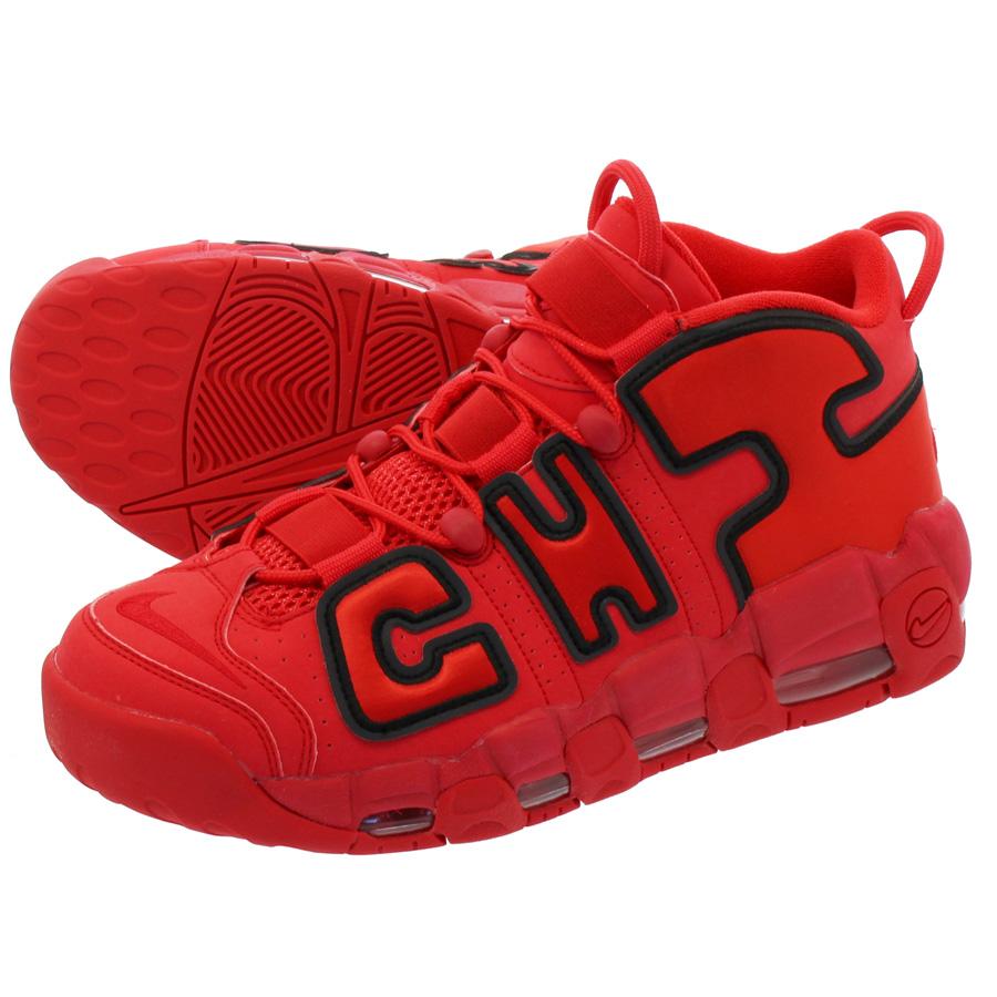 【ビッグ・スモールサイズ】 NIKE AIR MORE UPTEMPO QS 【CHICAGO】 ナイキ モア アップ テンポ QS UNIVERSITY RED/BLACK aj3138-600