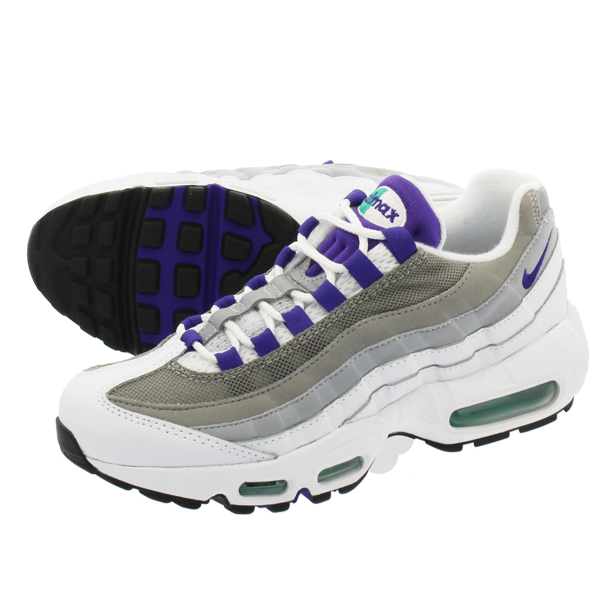 info for 27d19 88c9c NIKE WMNS AIR MAX 95 Nike women Air Max 95 WHITE COURT PURPLE EMERALD ...