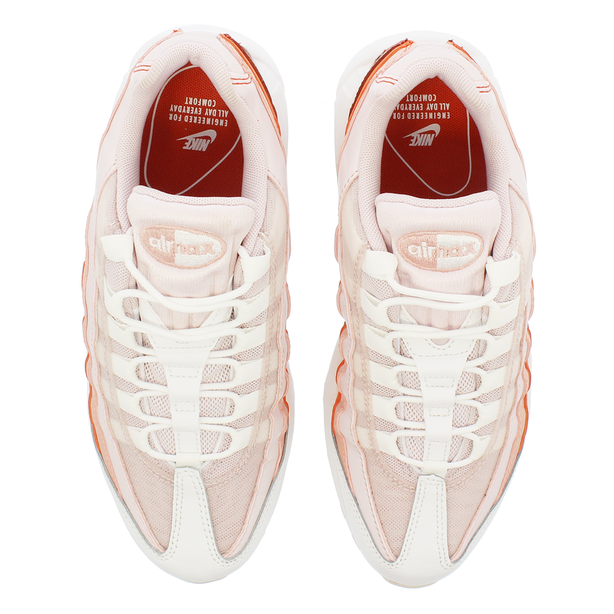 new product 9302a 5594b NIKE WMNS AIR MAX 95 Nike women Air Max 95 BAREY ROSE CORAL STARDUST 307960- 604-l
