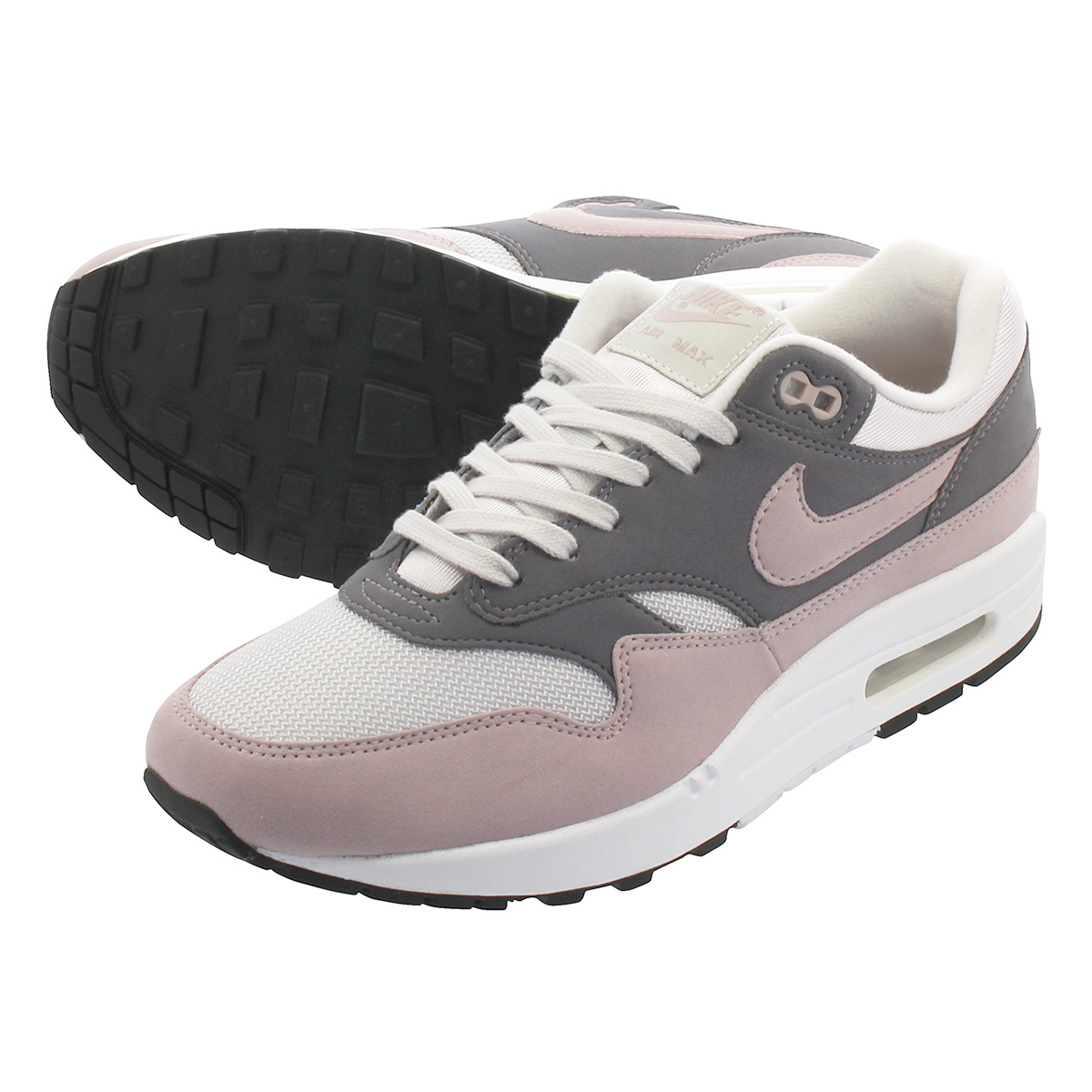 finest selection 60329 54e83 NIKE WMNS AIR MAX 1 Nike women Air Max 1 VAST GREY PARTICLE ROSE GUNSMOKE BLACK  319,986-032