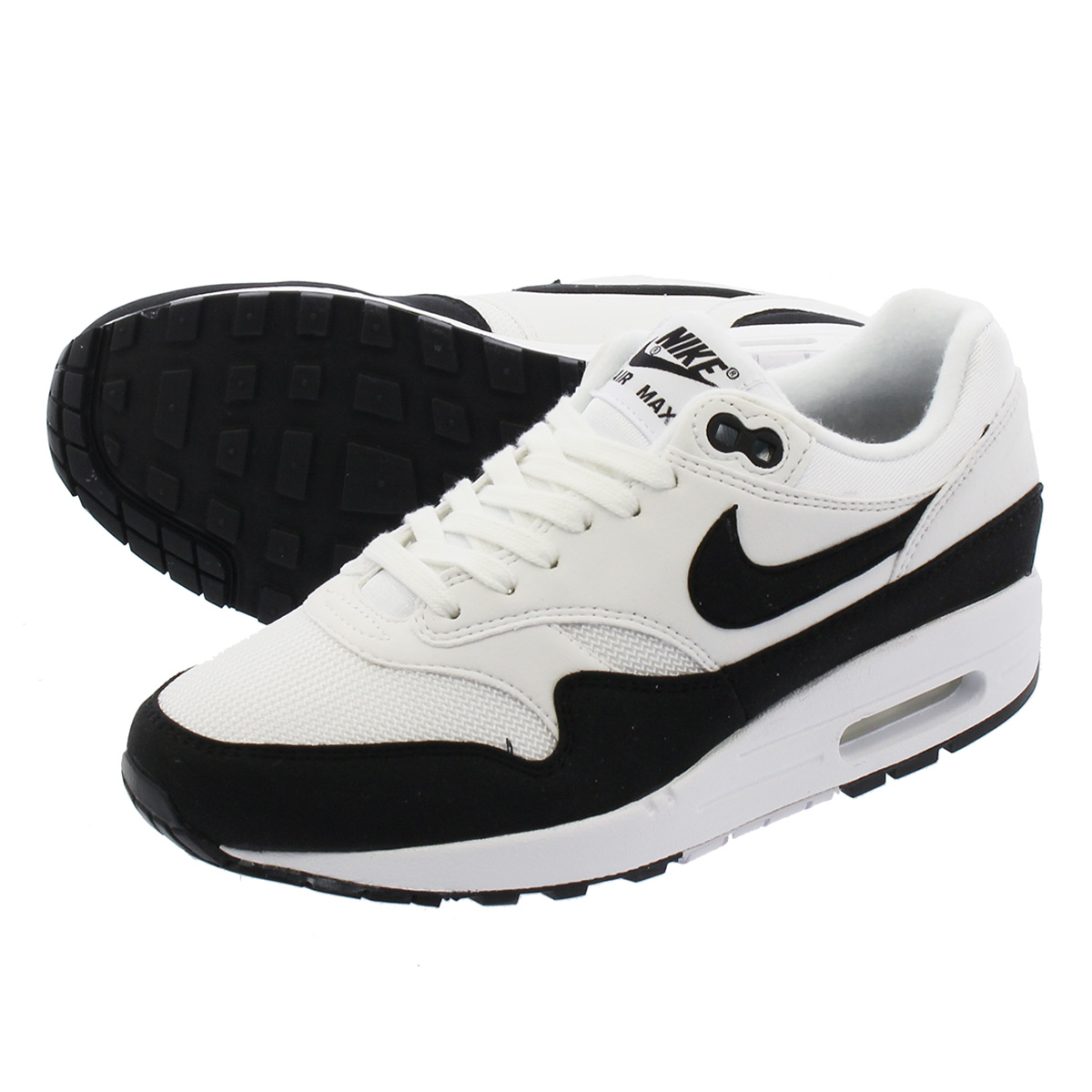 buy popular 30acf ee33d NIKE WMNS AIR MAX 1 Nike women Air Max 1 WHITE BLACK 319,986-109