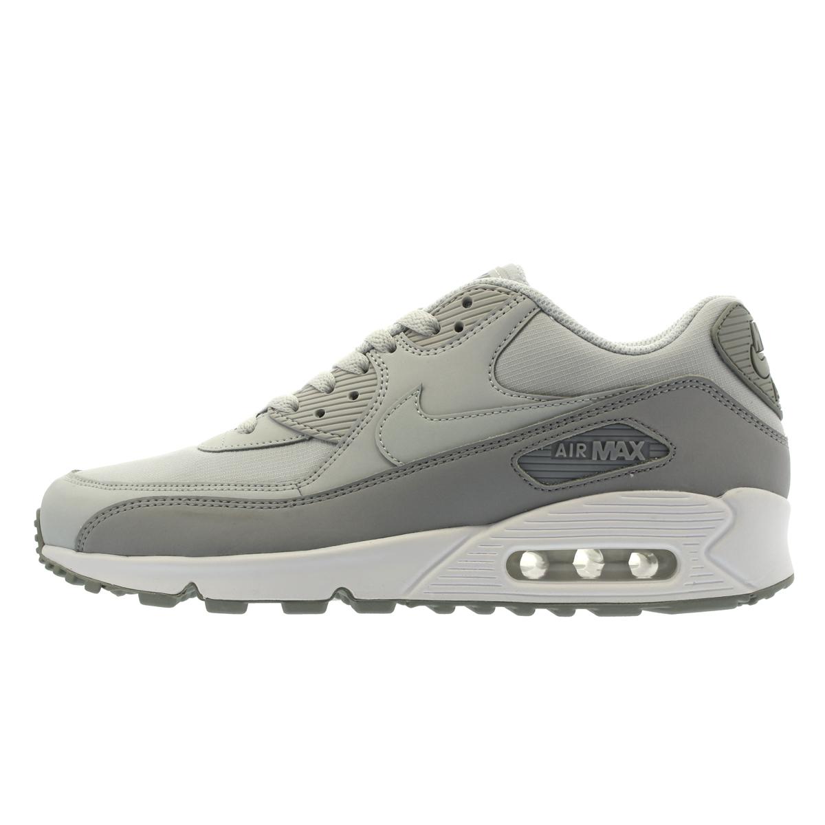 sports shoes f3d2c a48b8 NIKE AIR MAX 90 ESSENTIAL MEN WOLF GREY  PURE PLATINUM 537384 088