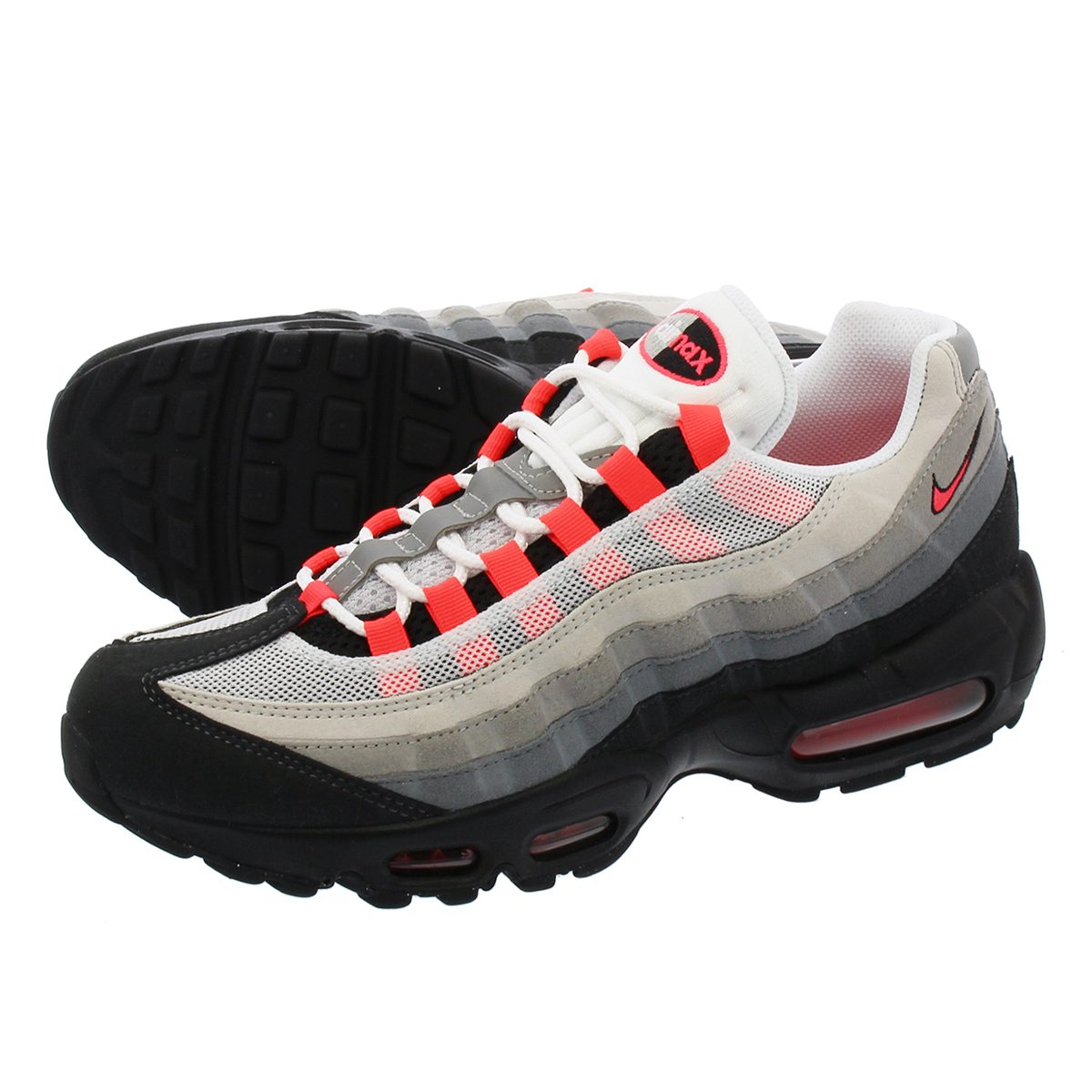 676ae7881e LOWTEX PLUS: NIKE AIR MAX 95 Kie Ney AMAX 95 WHITE/SOLAR RED/MEDIUM GREY/NEUTRAL  GREY 609,048-106 | Rakuten Global Market