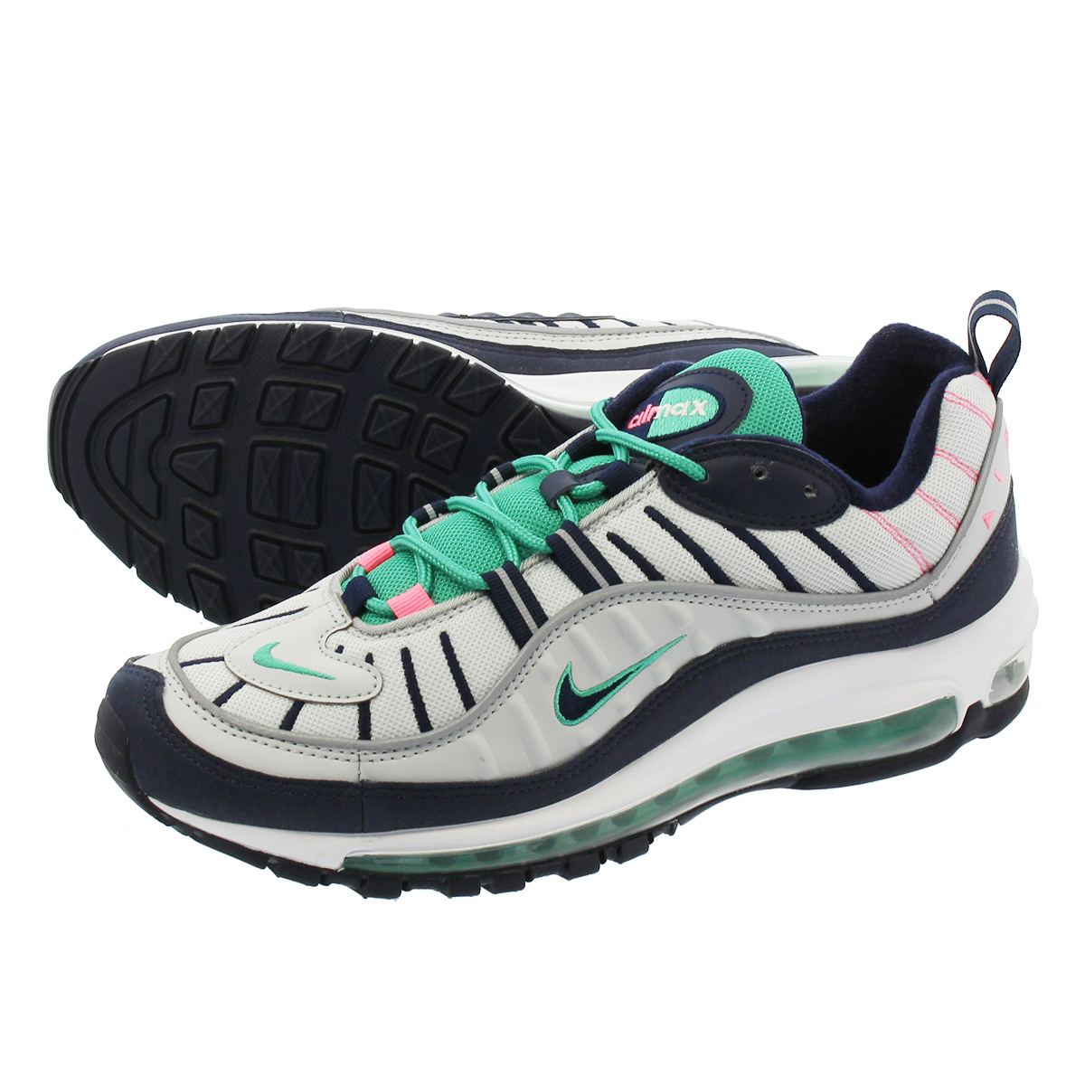 cb9668a2d024 LOWTEX PLUS  NIKE AIR MAX 98 Kie Ney AMAX 98 PURE PLATINUM OBSIDIAN KINETIC  GREEN