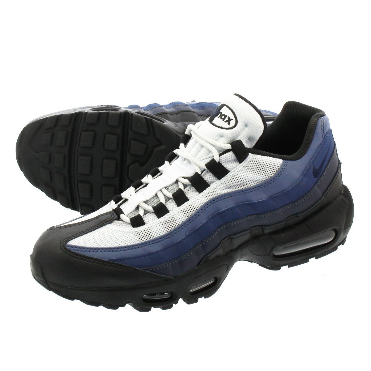 release date ab964 c4776 NIKE AIR MAX 95 ESSENTIAL Kie Ney AMAX 95 essential BLACK OBSIDIAN NAVY BLUE PURE  PLATINUM 749,766-028