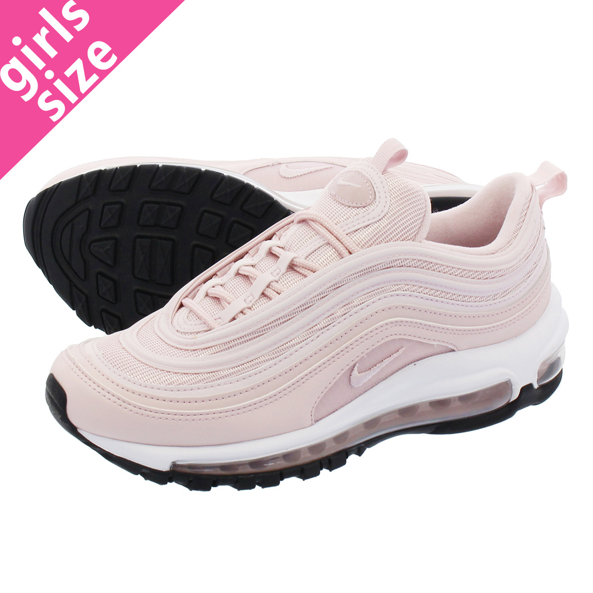 55348f816f6 LOWTEX PLUS  NIKE WMNS AIR MAX 97 Nike women Air Max 97 BARELY ROSE WHITE BLACK