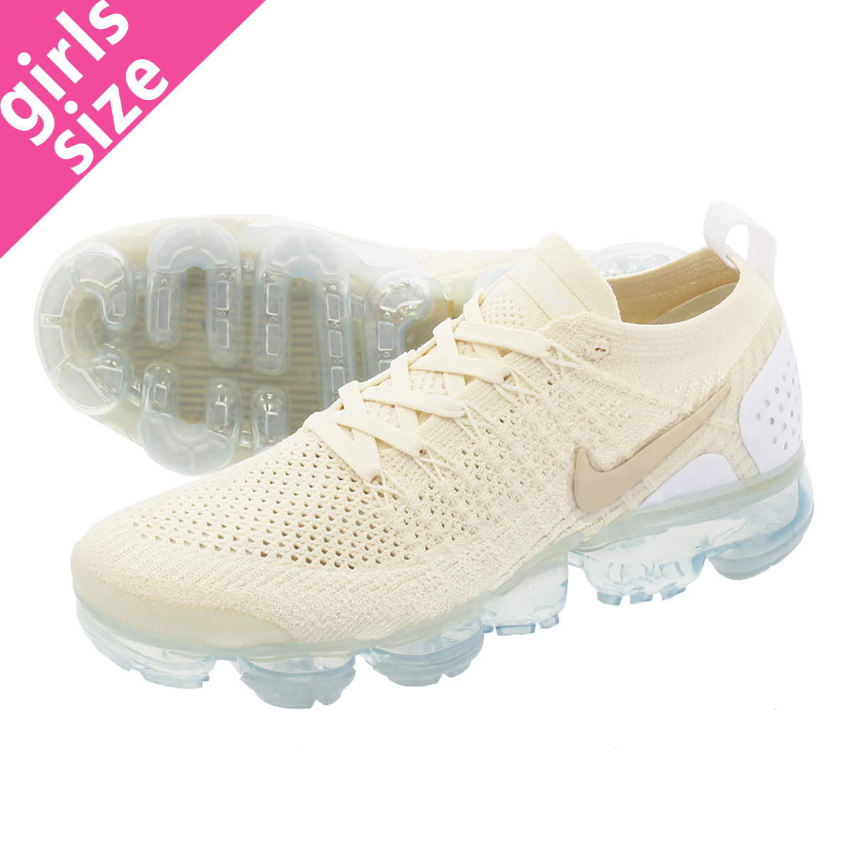 61b88ea626 LOWTEX PLUS: NIKE WMNS AIR VAPORMAX FLYKNIT 2 Nike women vapor max fried  food knit 2 LIGHT CREAM/WHITE/METALLIC GOLD STAR | Rakuten Global Market