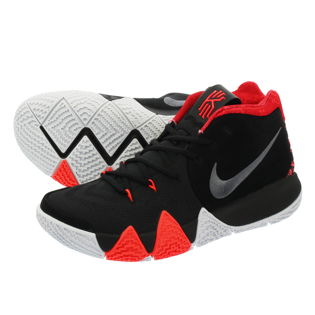 quality design c846d d61ab NIKE KYRIE 4 Nike chi Lee 4 BLACK/UNIVERSITY RED/TOUR YELLOW/DARK GREY