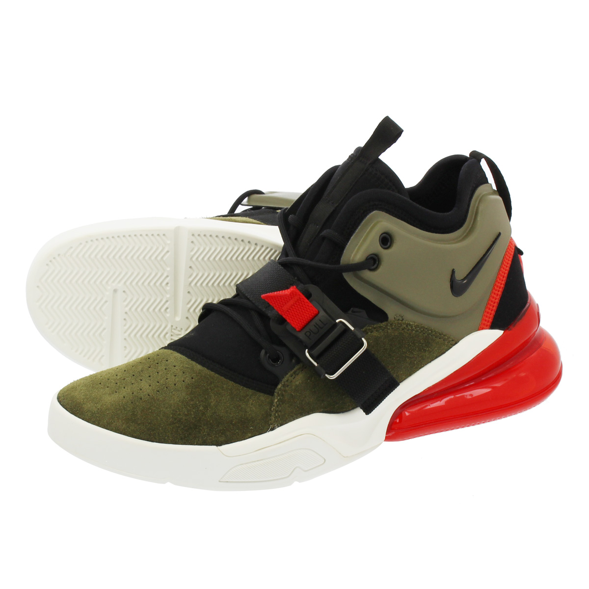 NIKE AIR FORCE 270 ナイキ エア フォース 270 MEDIUM OLIVE/BLACK/CHALLENGE RED/SAIL ah6772-200