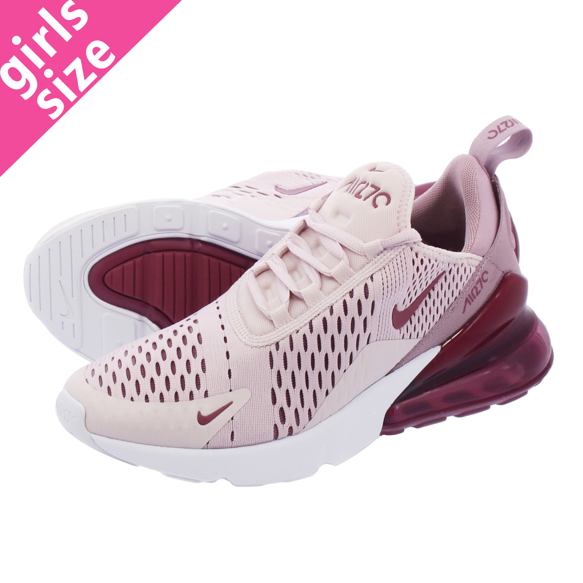 separation shoes f58af a7b26 NIKE WMNS AIR MAX 270 Nike women Air Max 270 BARELY ROSE/WHITE/VINTAGE WINE  ah6789-601-l