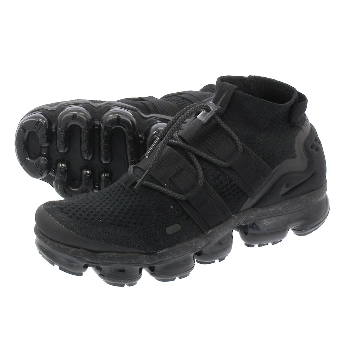 084a57886cab42 LOWTEX PLUS  NIKE AIR VAPORMAX FLYKNIT UTILITY Nike vapor max fried food  knit utility BLACK BLACK BLACK
