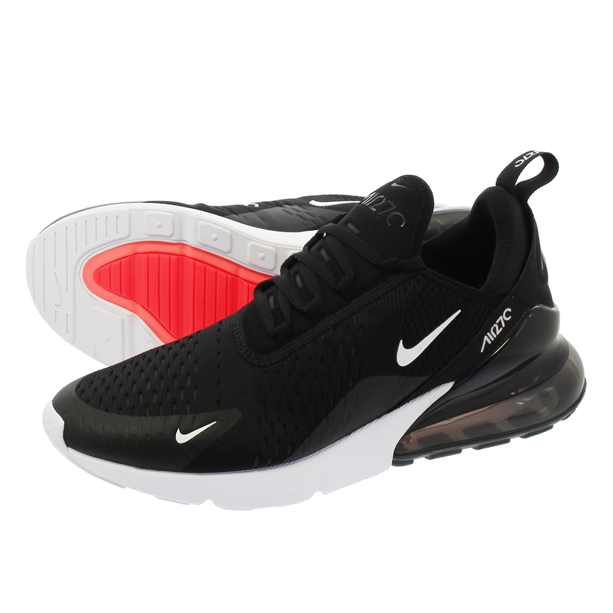 sports shoes 2dff0 0bc6f NIKE AIR MAX 270 Kie Ney AMAX 270 BLACK ANTHRACITE WHITE SOLAR RED ah8050- 002