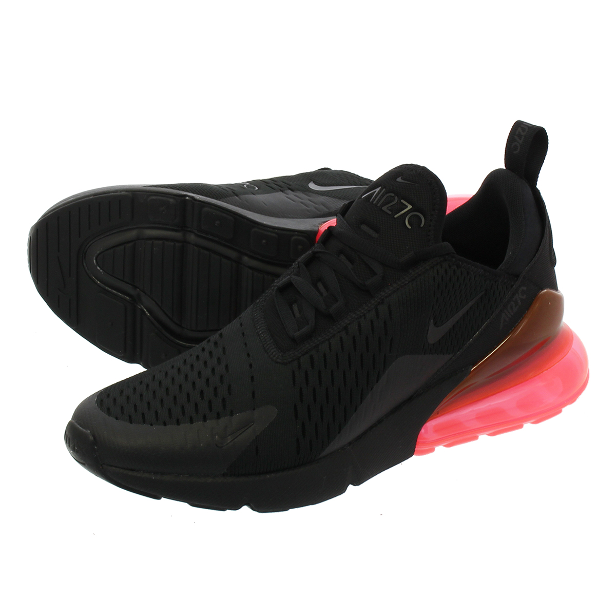 new products 1b115 27100 NIKE AIR MAX 270 Kie Ney AMAX 270 BLACK/HOT PUNCH
