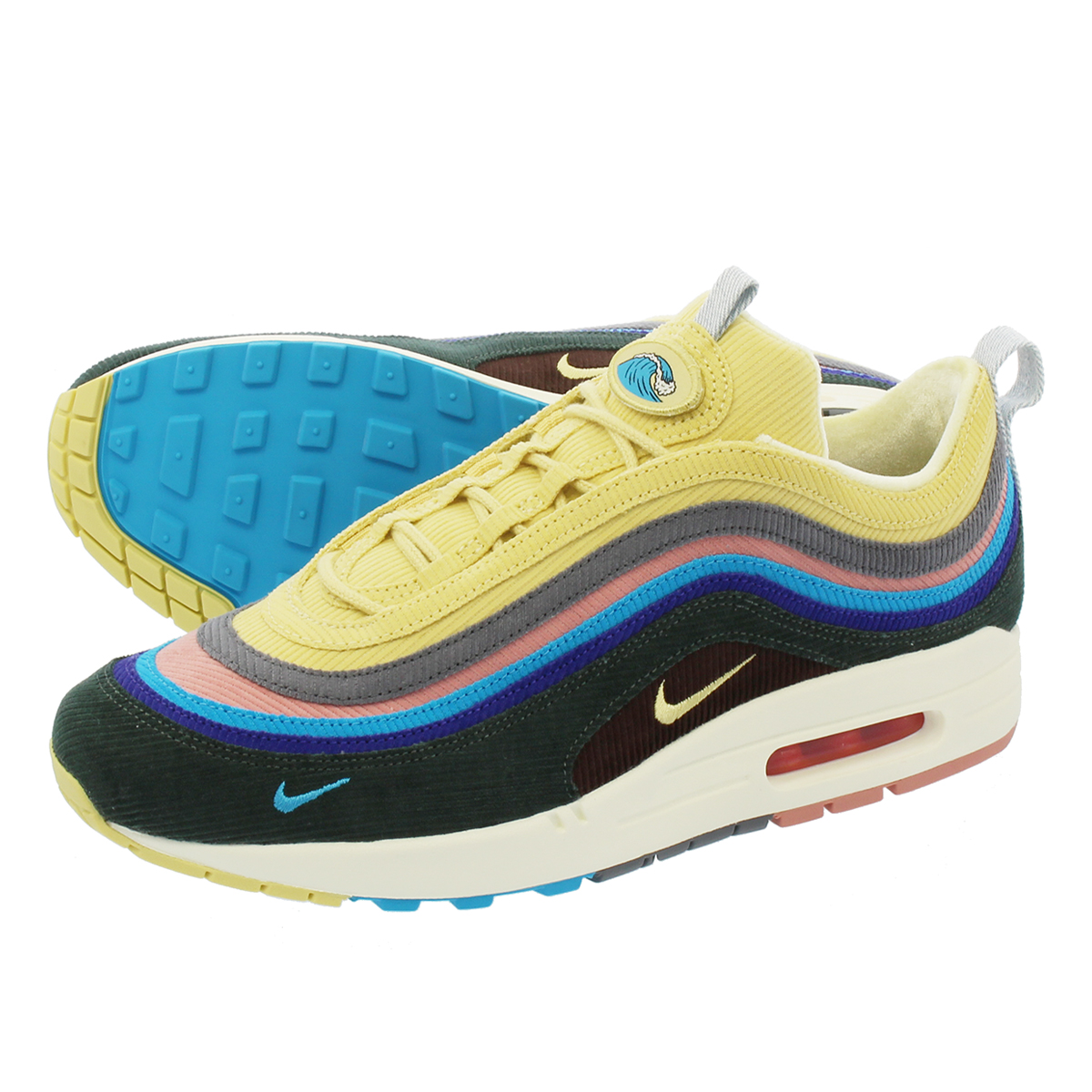 new product dddc3 722a8 NIKE AIR MAX 1/97 V.F. SW NIKE AIR MAX 1/97 V.F. Sean weather spoon LIGHT  BLUE FURY/LEMON WASH