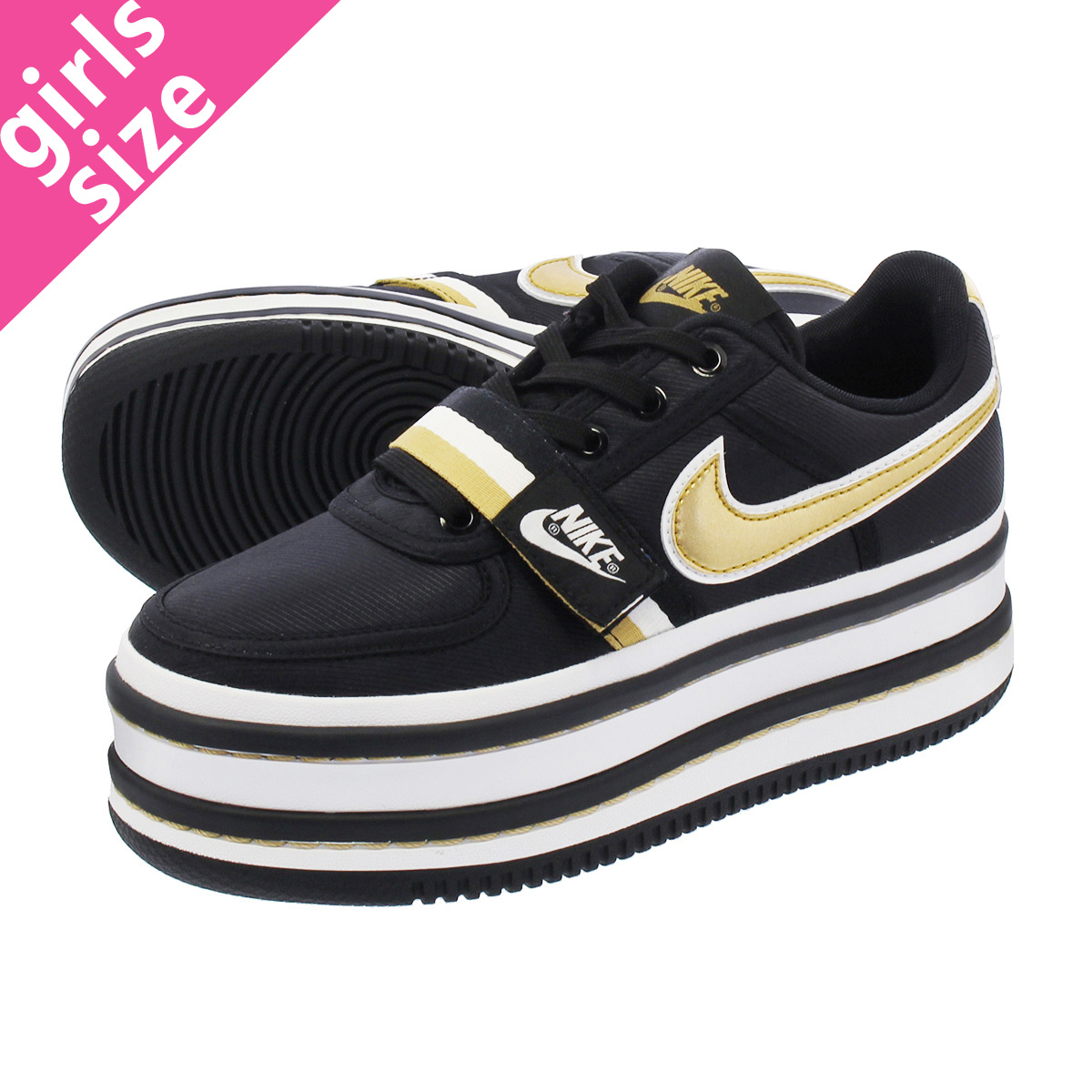 wholesale dealer 6955c ed464 LOWTEX PLUS  NIKE WMNS VANDAL 2K Nike women Vandal 2K BLACK METALLIC GOLD  ao2868-002-l   Rakuten Global Market