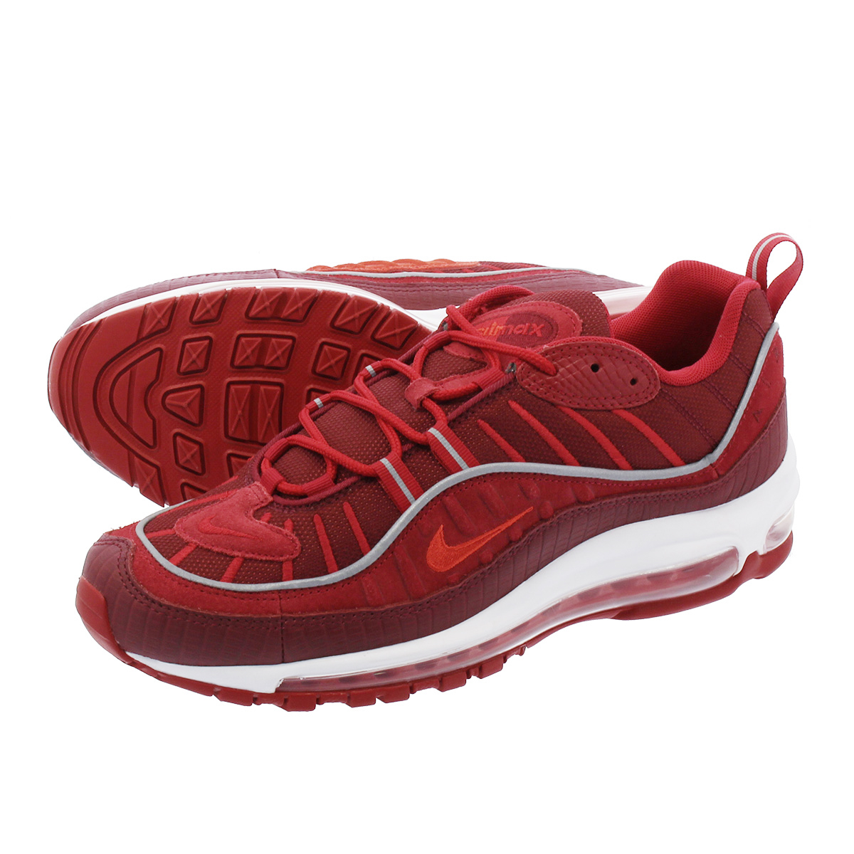best website 2a2fe ff6c3 NIKE AIR MAX 98 SE Kie Ney AMAX 98 SE TEAM RED HABANERO RED GYM RED WHITE