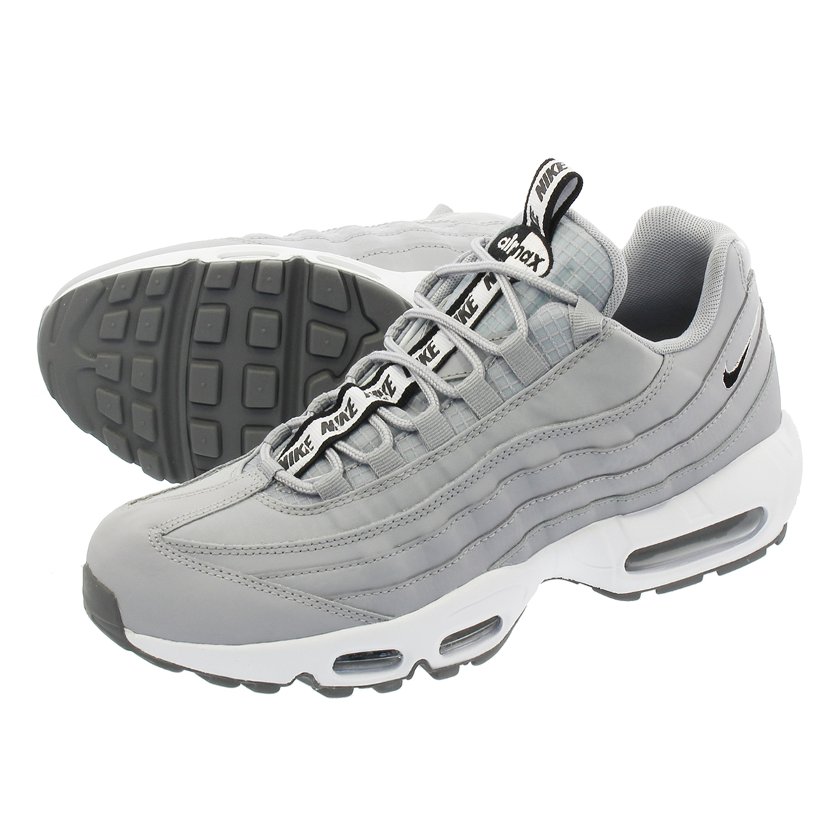 competitive price 1407f e25f6 NIKE AIR MAX 95 SE Kie Ney AMAX 95 SE GREY WHITE BLACK aq4129-001
