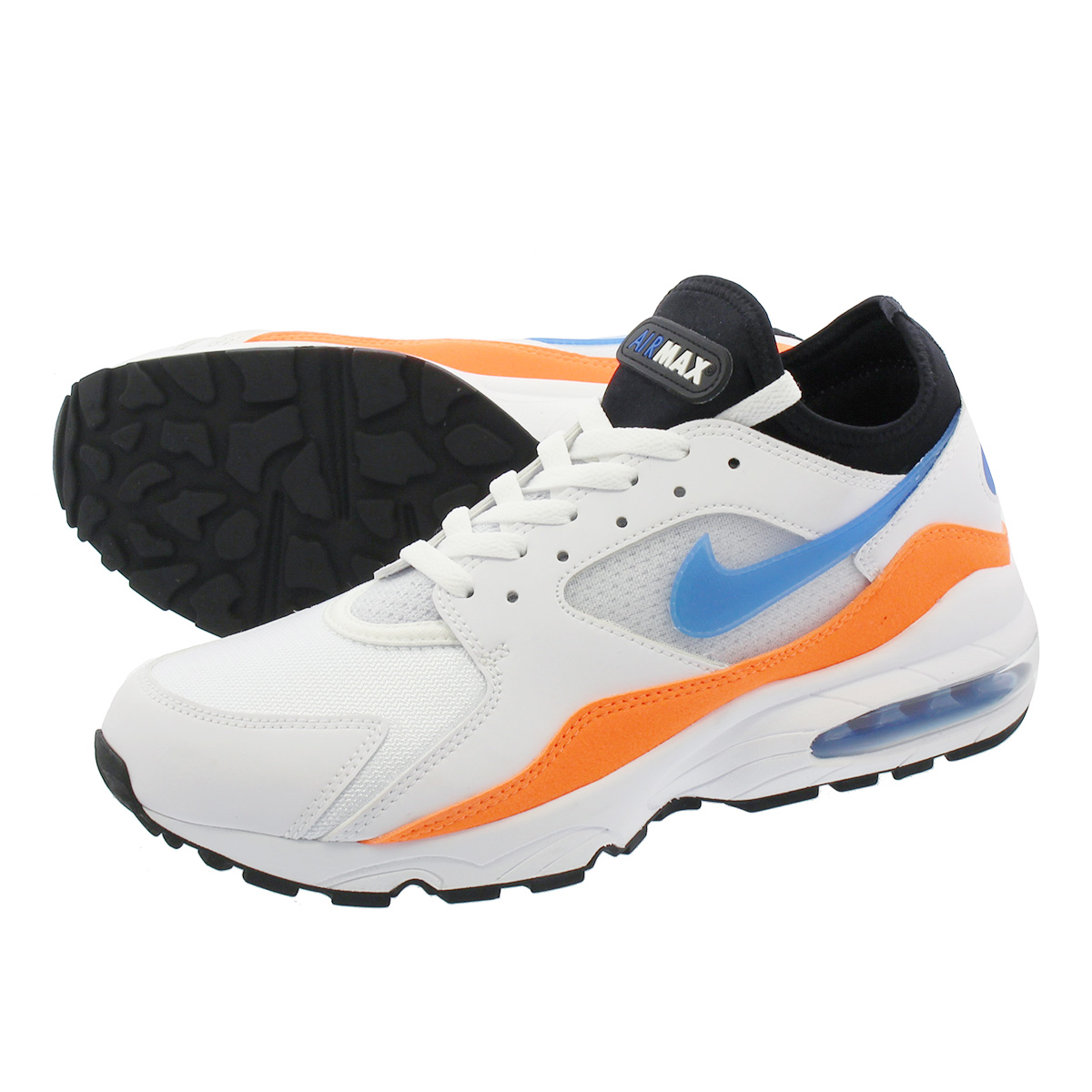 ae05e7a2411c NIKE AIR MAX 93 Kie Ney AMAX 93 WHITE BLUE NEBULA TOTAL ORANGE BLACK  306